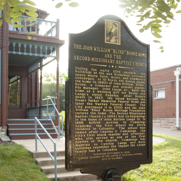 The Boone Home is an important destination on Columbia's African-American Heritage Trail