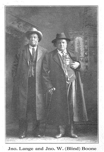 "John Lange and John William ""Blind"" Boone"