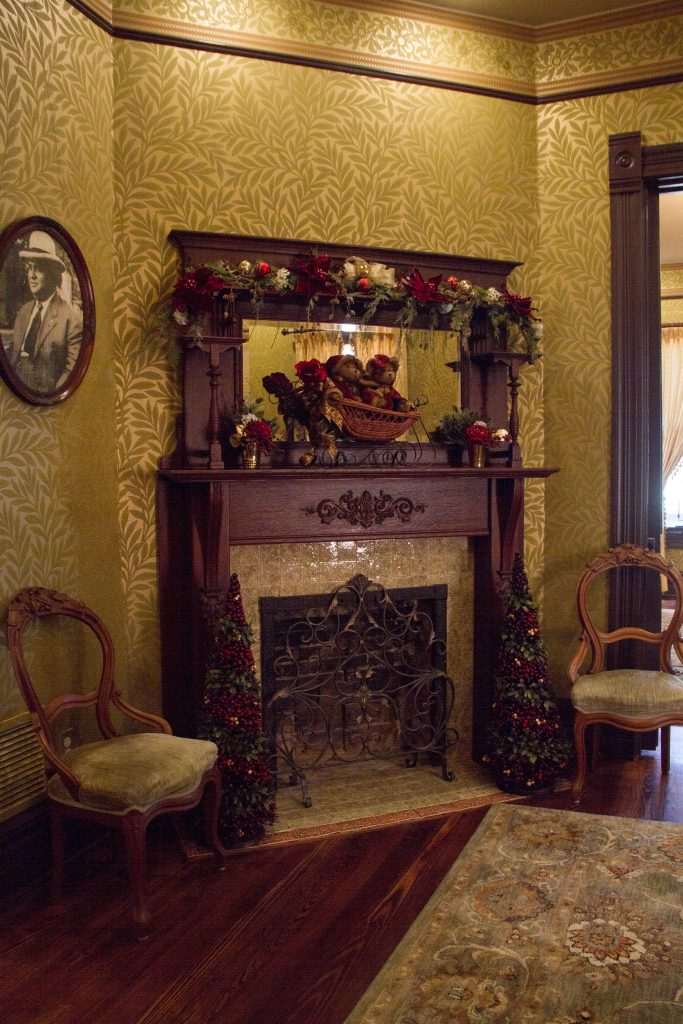 Blind Boone Home Holiday Fireplace