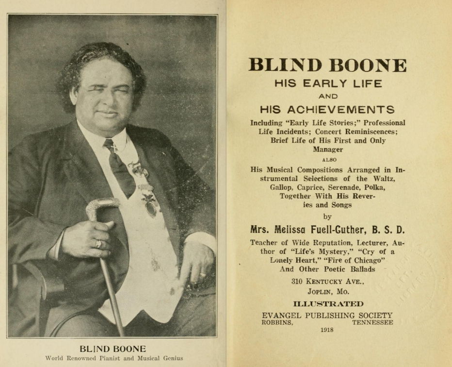 Blind Boone Concert Program