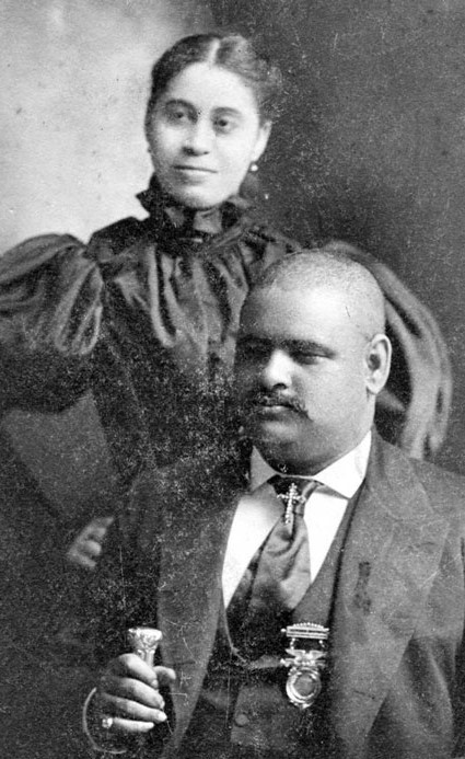 "John William ""Blind"" Boone and his wife, Eugenia Lange Boone"